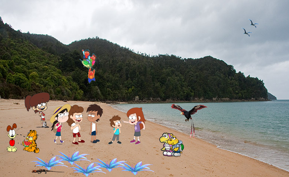 Alien Rainforest Island Beach Toons! by Fyrekobra