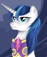 Shining Armor portrait by SakuraWolfer