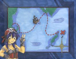 Nixie's Pirate Map? XD by Sabre-Jo