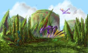 Fantasy Landscape?... (Updated) by Darkstar-SD