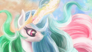 Wavy hair Celestia by macalaniaa