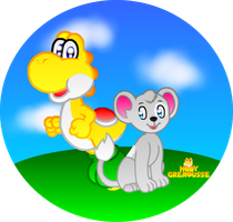 CLOUD AND YELLOW YOSHI by HOBYGRENOUSSE