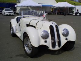 1938 BMW 328 convertible front by Partywave