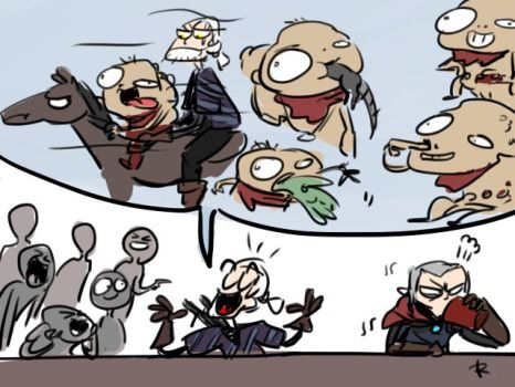 The Witcher 3, doodles 10 by Ayej