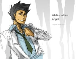 White clothes Angel by ninevsnine