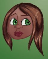 Girl with green eyes by Mariah-K