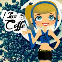I Love Coffe Doll by monxita244