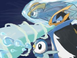 Piplup Prinplup Empoleon by TheFrymon
