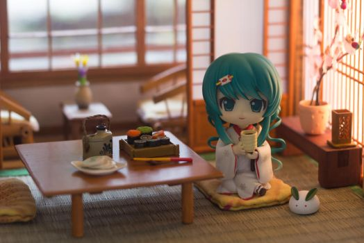 Miku at a Ryokan by kixkillradio