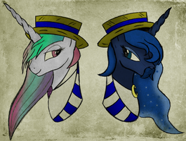 Luna and Celestia - The Amazing Royal Sisters by AncientOwl