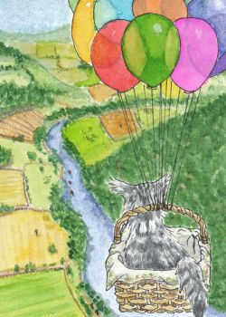 #30 Indy on tour - the balloon-basket by Lyfesa