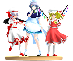 MMD Trophy: C'mell and Shine models by Rea-Usax