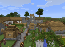 Village Update - Working on the Barn 2 by DPrime123