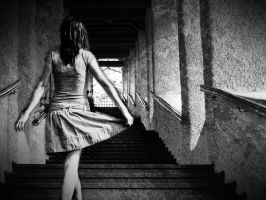 Ghost on the stairs by floryn1995