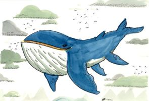 Flying Whale by JakRabbit96