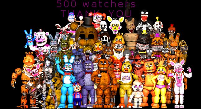 500 Watchers! Thank You  Nick by PuppetProductions
