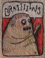 Sketch Card - Braaains by Mollinda