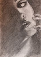 Charcoal Sketch Pratice by annaesthesia