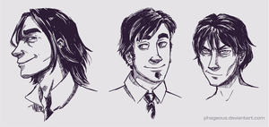 Sketchy people by Phageous