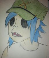 2D Plastic Beach Ident, Colored by crazycatlady46