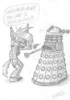 Hyrit and a Dalek by EUAN-THE-ECHIDHOG