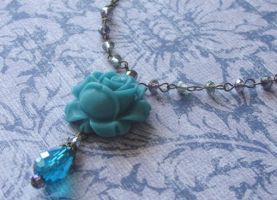 Blue Bloomin Blossom necklace by LKJSlain