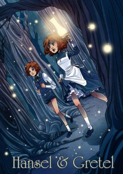 Hansel and Gretel book cover by Moemai