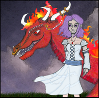 A Girl and Her Dragon by Slave2Karma