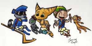 Babies Sly, Ratchet and Jak by JennissyCooper