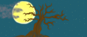 Moon and Tree by Lillypop420