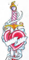 Sword And Heart by vikingtattoo