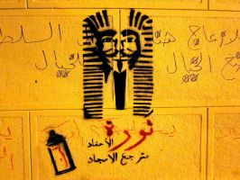 Anonymous Pharao Egypt by OpGraffiti