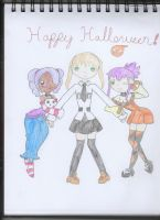 Soul Eater and OCs - A Deathbucks Halloween! by RoyaleAnimeQueen