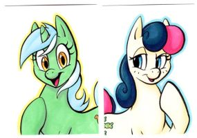 LYRA and BON BON Cards by paradox-a-go-go