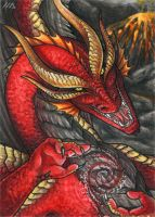 ACEO for RedFyreDragon by Dragarta