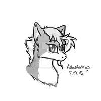 Skylark bust sketch :: July 27 by AshesAndWings