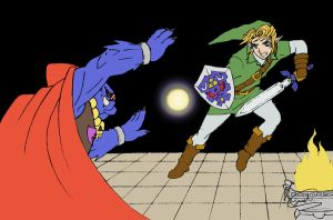 link vs ganondorf pig by l-gray-l