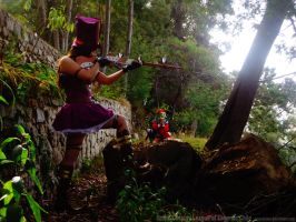 Shaco and caitlyn Cosplay League of legends Chile by RosseSinner
