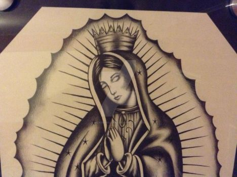 Virgen Guadalupe Masterpiece close up 2 by mexibonilla13