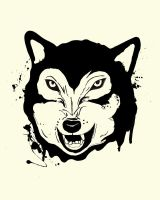 Wolf Line Art by ToniTurtle