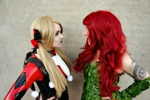 Poison Ivy and Harley Quinn 3 by Nikkimomo