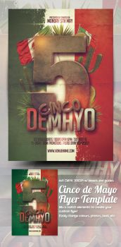 Cinco de Mayo Flyer Template by mrkra