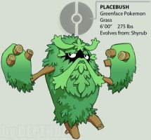 PLACEBUSH - the greenface by depthball