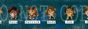 my character pins by Emo-Hellion