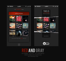Homescreen #3 - Red n' Gray by MrKjzoo