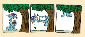 Scurrow climbs a Tree by Scurrow