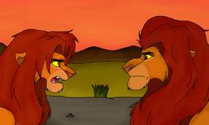 Simba And Mufasa by MariiiCarbone