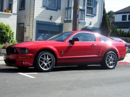 red black Shelby GT500 by Partywave