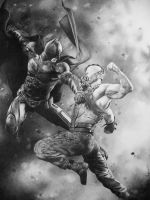 The Dark Knight Rises Above Bane by marchesme
