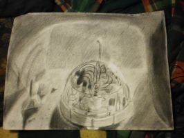 Mecha Kame 2 in cave Charcoal by WrensthavAviovus